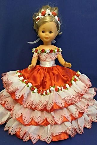 Vestido Rojo Para Muñeca Nancy De Famosa