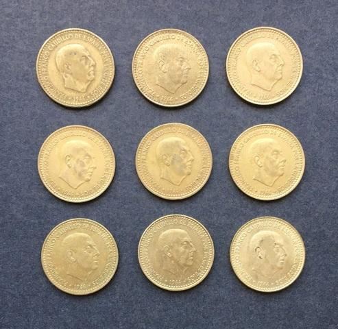 Serie Monedas 1 Peseta 1966 Franco