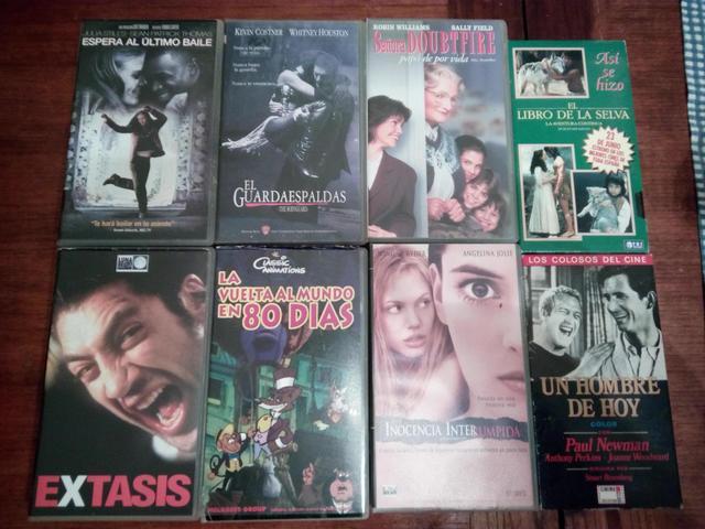 LOTE 8 PELICULAS VARIADAS CAJAS VHS - foto 1