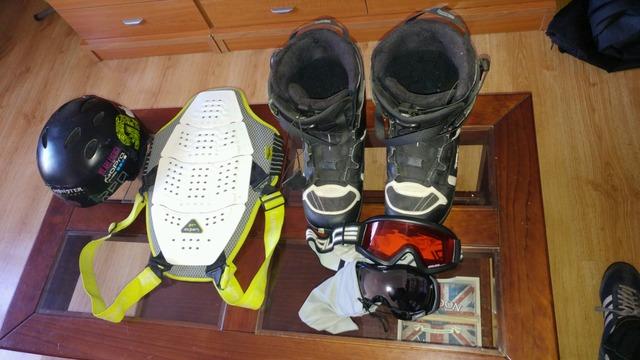 Tabla De Snowboard+Fijaciones+Botas
