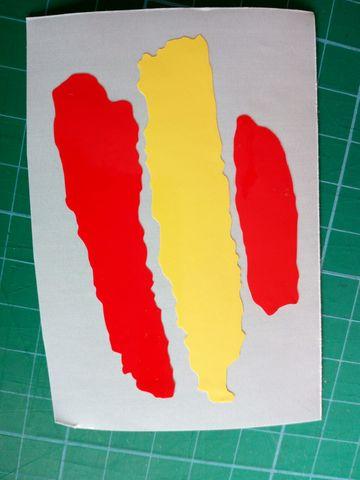 8 x Pegatinas 3D Relieve Bandera Tarragona Todas las Banderas del MUNDO