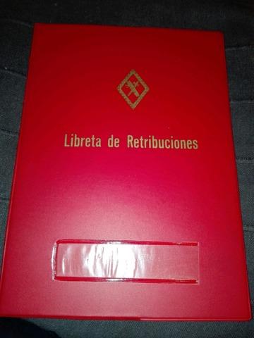 Libreta Retribuciones Guardia Civil