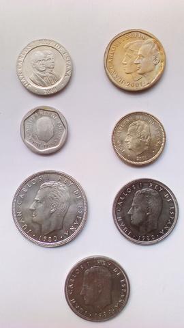 Monedas Rey Juan Carlos I Varios Años