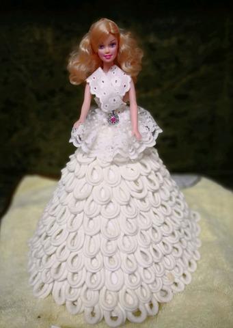 Muñeca Tipo Barbie Vestido De Papel