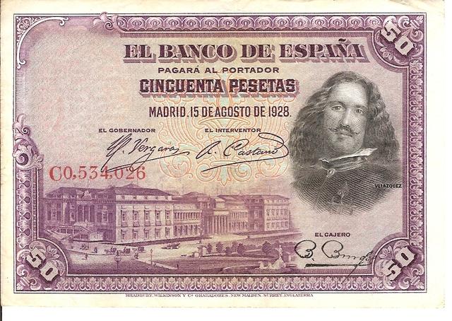Billetes De 50 Pesetas