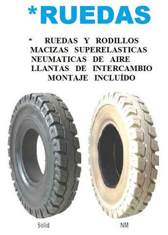 * RUEDAS DE CARRETILLAS ELEVADORAS - foto 1