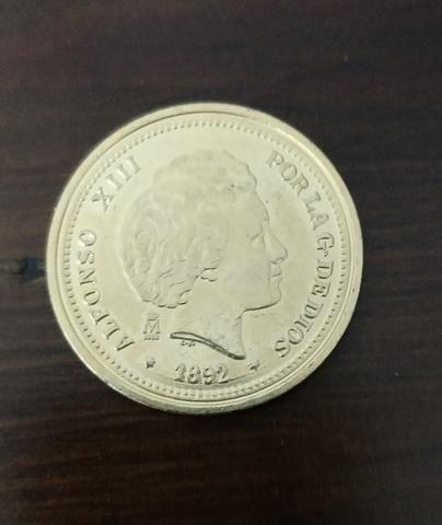 Moneda  Replica 20 P Alfonso Xiii. 1892.