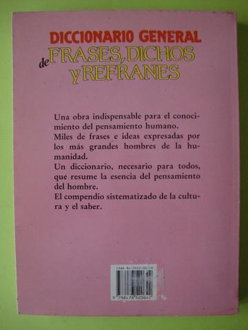 Diccionario General De Frases Dichos Y