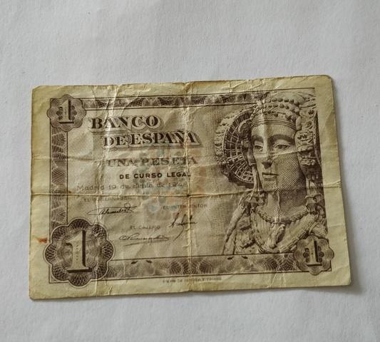 Billete De 1 Peseta Año 1948