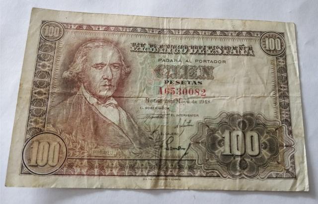 Billetes De 100 Pesetas. Año 1948
