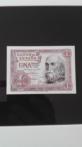 Billete Antiguo De España De 1953 Nuevo