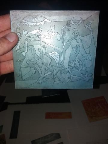 Lote Laminas Picasso Y 4 Placas De Impre