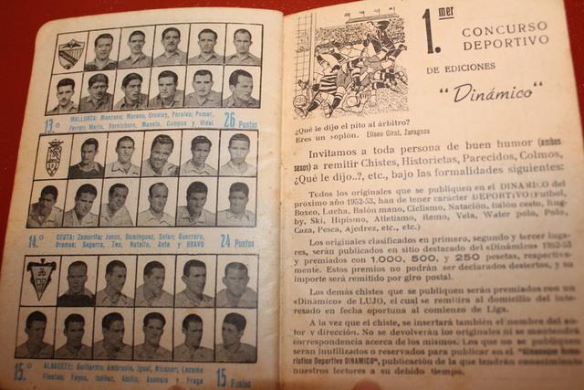 Calendario 1951.Calendario Futbol Antiguo 1951 52