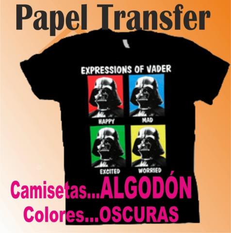 PAPEL TRANSFER PRENDA ALGODÓN - foto 1