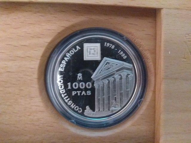 Moneda 1000 Pesetas De Plata Año 1998