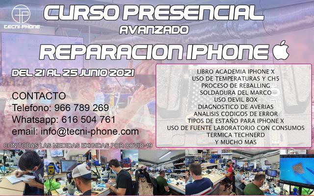 CURSO DE REPARACIÓN  IPHONE - foto 1