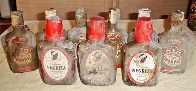 Antiguas Botellas Petaca