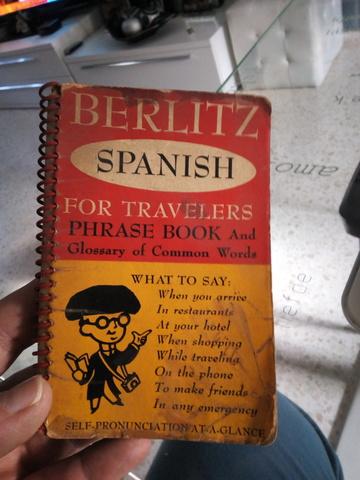 Antiguo Libro Traductor De Frases Ingles