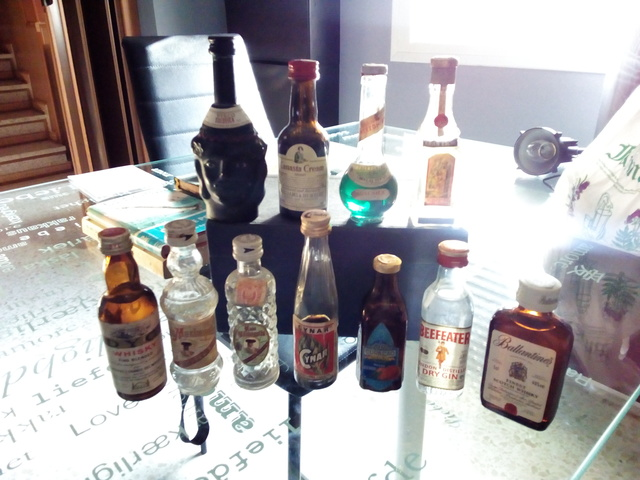 Mini Botellas Antiguas De Licor Vintage