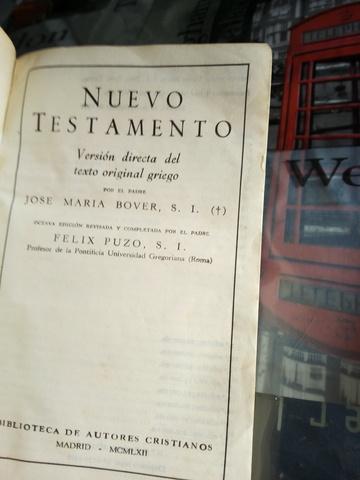 Antiguedades,Nuevo Testamento Año 1960
