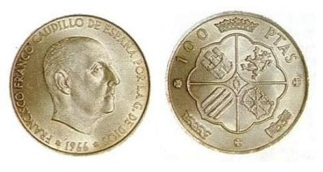 Compro Moneda 100 Pesetas De Plata