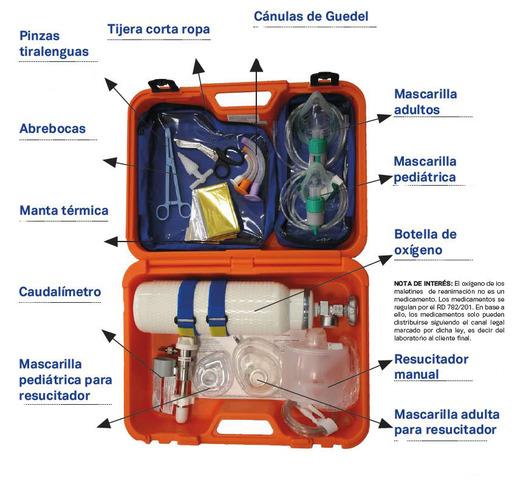 MALETÍN DE REANIMACIÓN TECHNOFLUX - foto 1