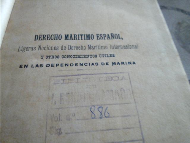Libro  Derecho Maritimo Español