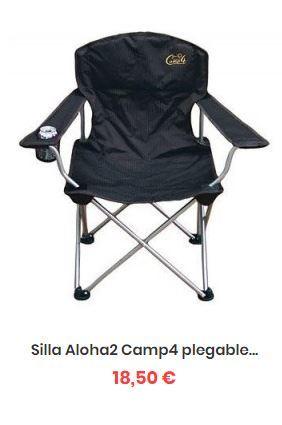 con reposabrazos Silla de Camping Acolchado de Espuma Incluye Soporte para Bebidas ALPHA CAMP Asiento Plegable para Estadio Silla de Playa Plegable
