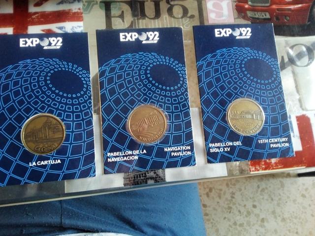 Medallas Expo 92 Sevilla Pabellones