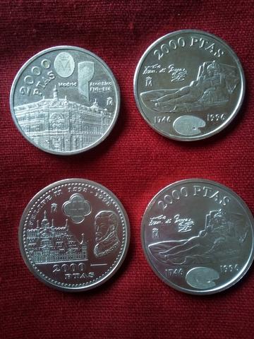 Monedas 2000 Pesetas De Plata Lote