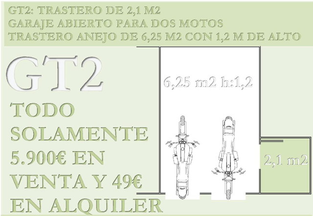 PLAZA 2 MOTOS O MOTO DE AGUA+TRASTERO 49 - foto 1