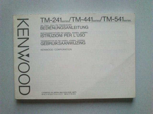 MANUAL KENWOOD TM-241/441/541 - foto 1