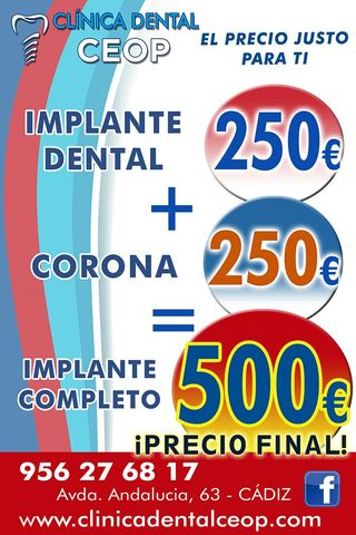 250EUROS IMPLANTE DENTAL EN CADIZ OFERTA - foto 2