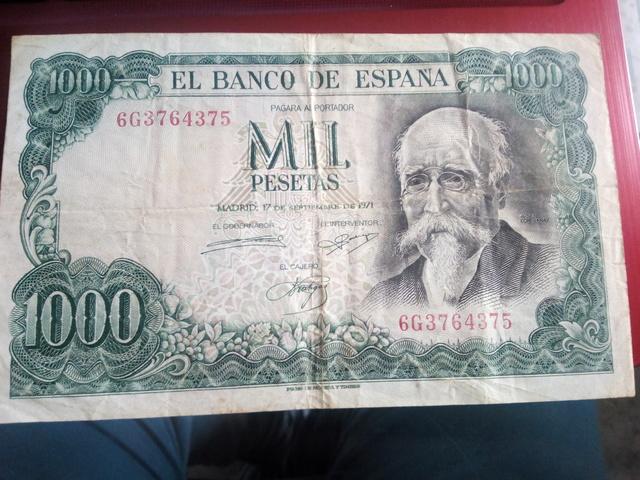 Billete De 1000 Pesetas 1971 Echegaray