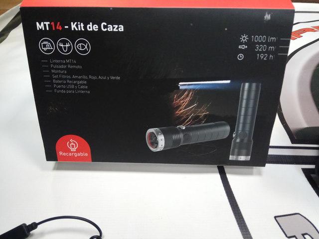 Lenser linterna led bateria para