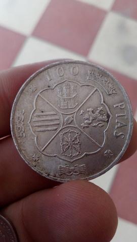 100 Pesetas Plata Franco 1966*19-68 Bc+