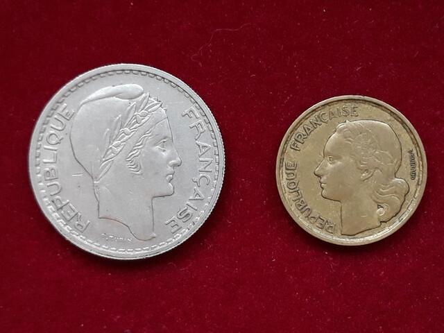 2 Monedas Francia 10 Francos
