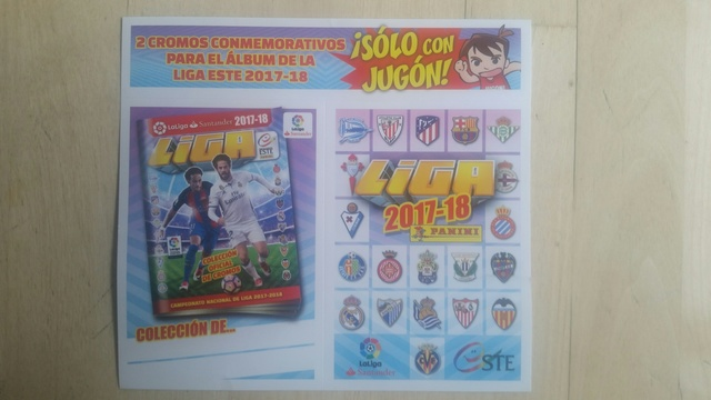 Cromos Conmemorativos Liga Este 2017-18