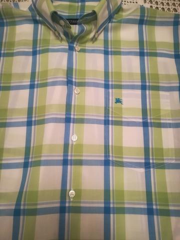 Burberrys talla 4 marrón cuadros camisa hombre de segunda