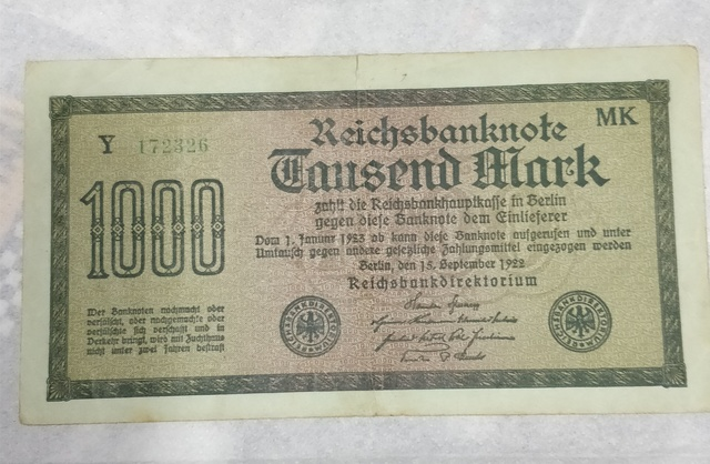Billete 1.000 Marcos 1922