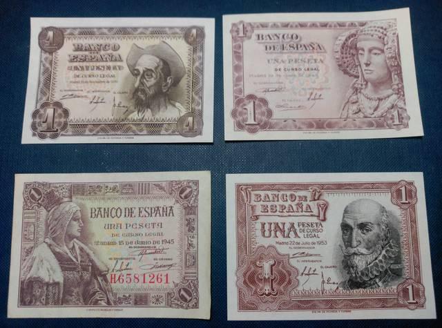 Billetes Y Monedas De Una Peseta