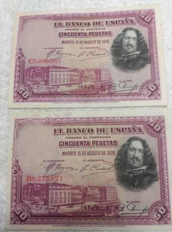 Billetes De 50 Pesetas Velázquez