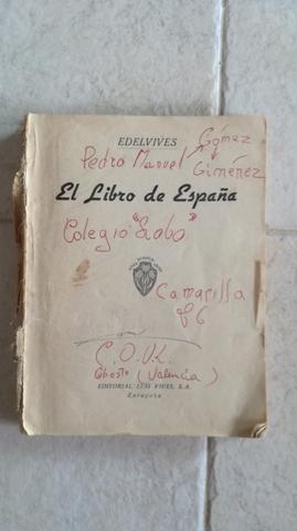 Libro Antiguo El Libro De España