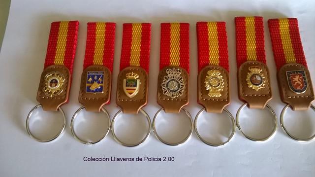 Policía Nacional Llaveros Coleccion
