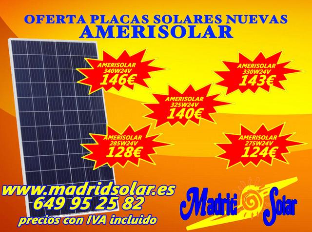 Placa Solar 335 W 24 V  145 Euros