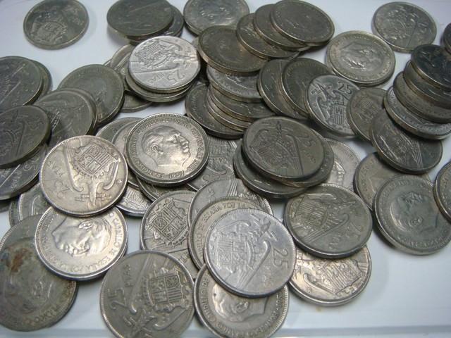Monedas De 25 Pesetas 1957