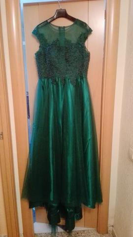 Vestido Verde Esmeralda Sin Usar