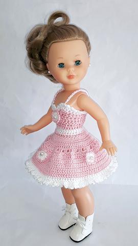 Vestido Rosa Y Braguitas Crochet Nancy