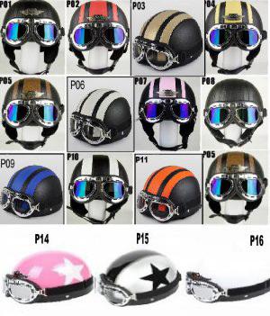 diseñador de moda varios diseños oferta CASCO PARA MOTO CLASICA