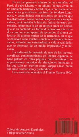 LIBRO LITUMA EN LOS ANDES,  VARGAS LLOSA - foto 2